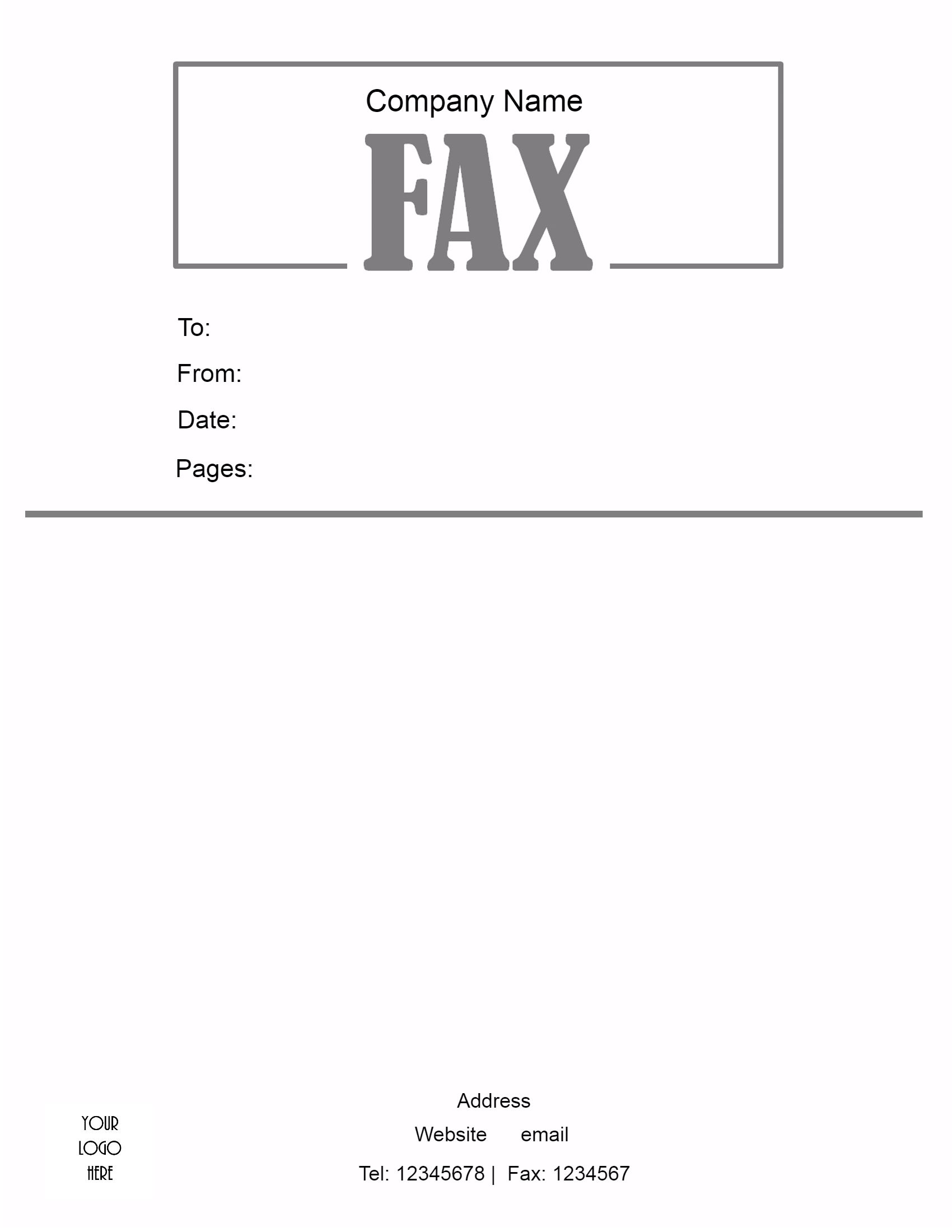 choose a fax cover letter template