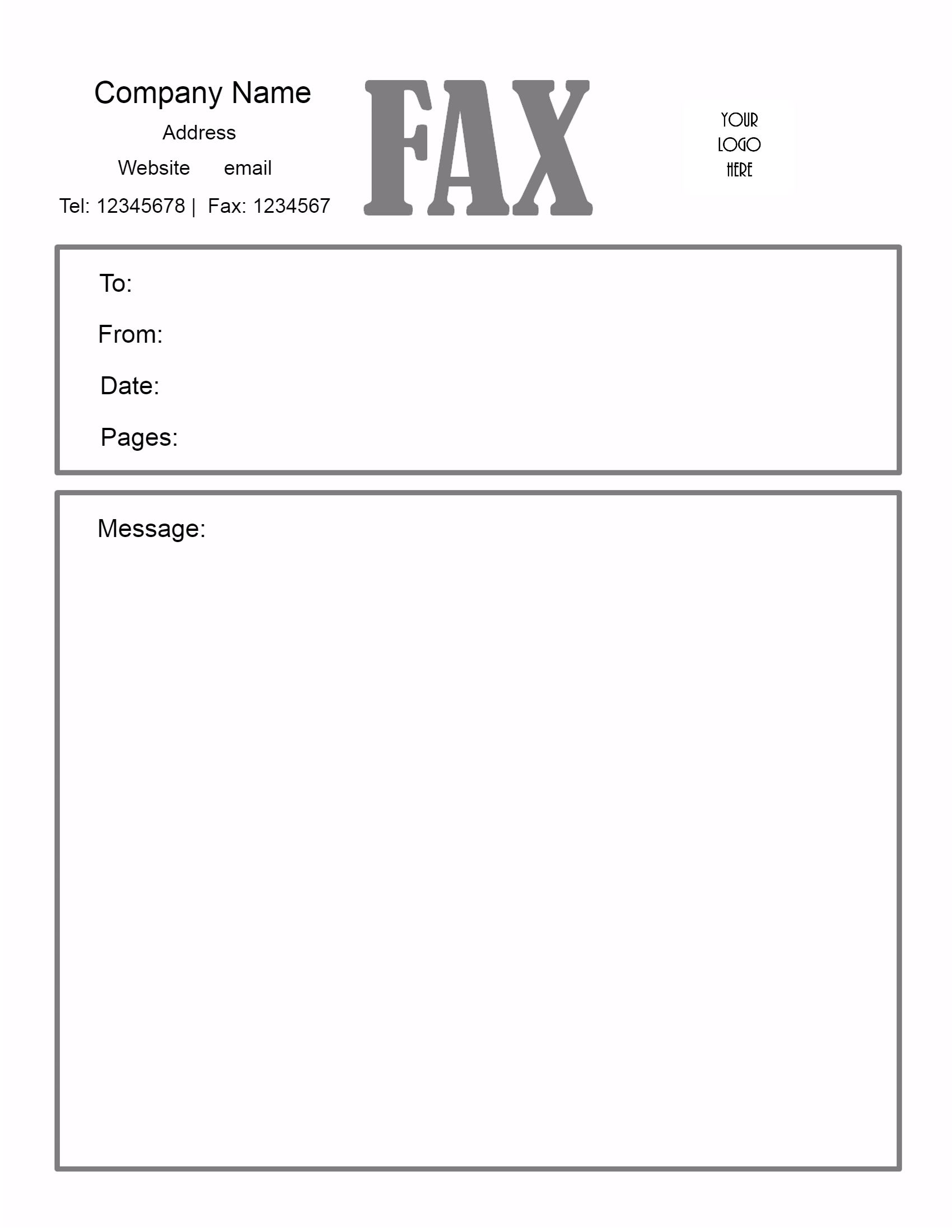 fax cover letter template printable fax cover sheet