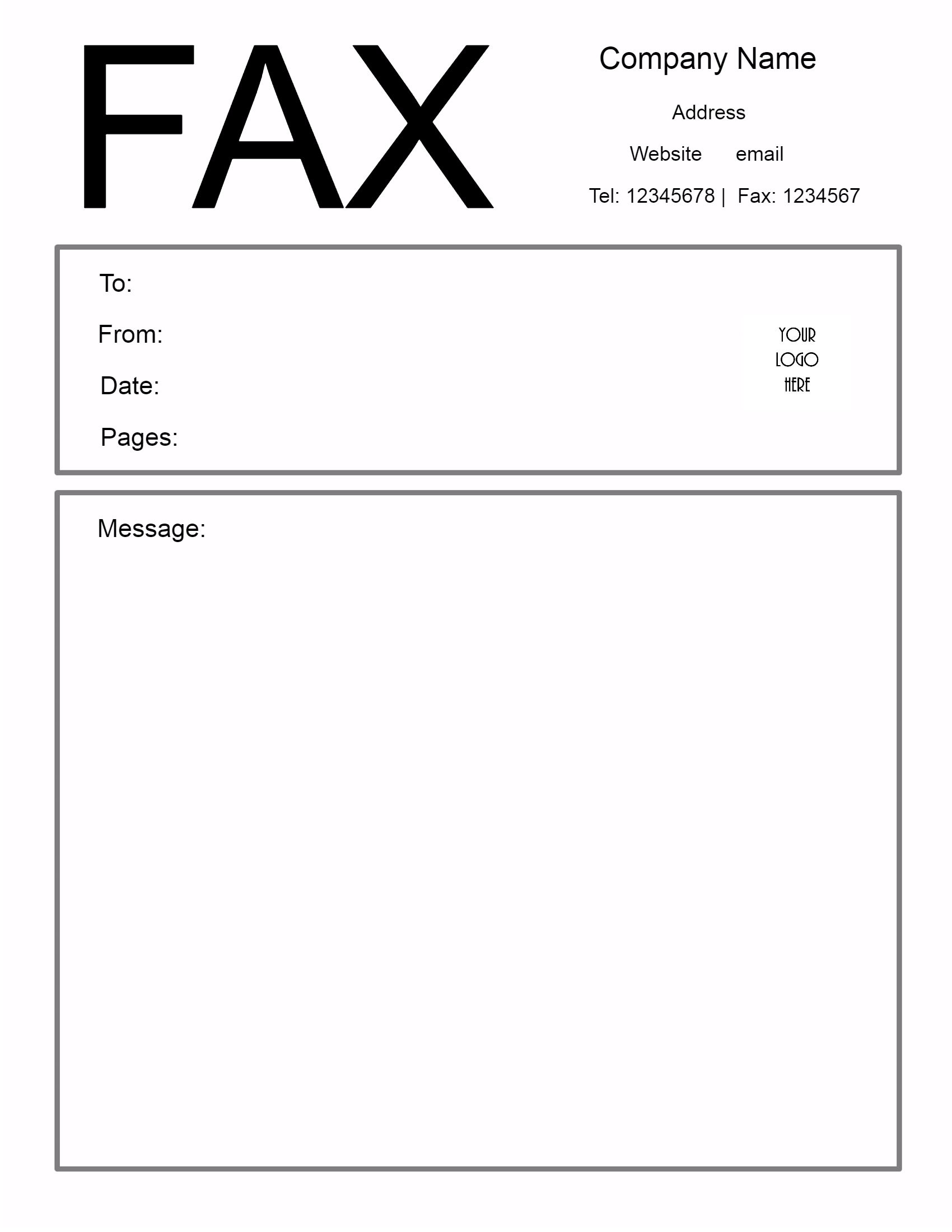Cover letter to send fax