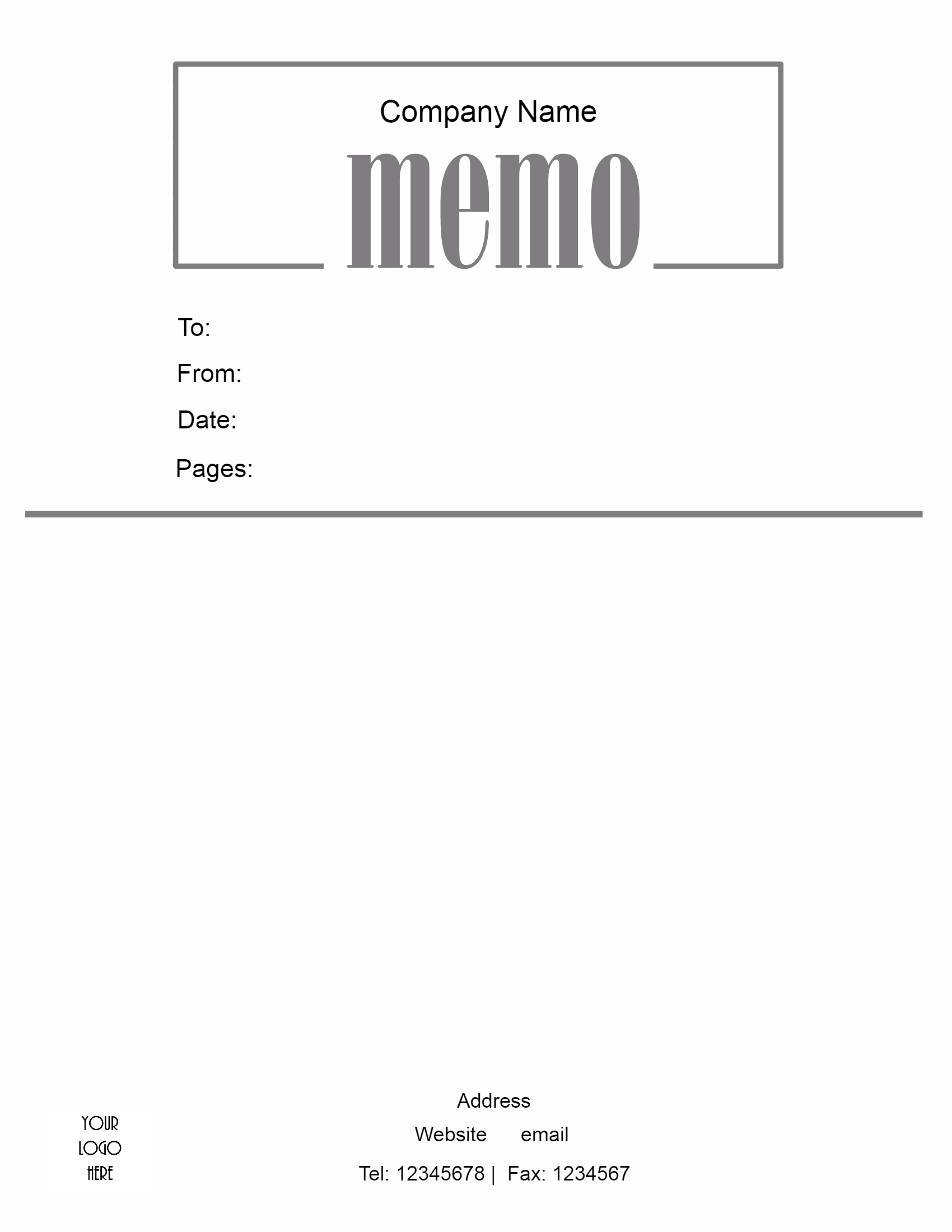 microsoft word memo template company logo at the bottom