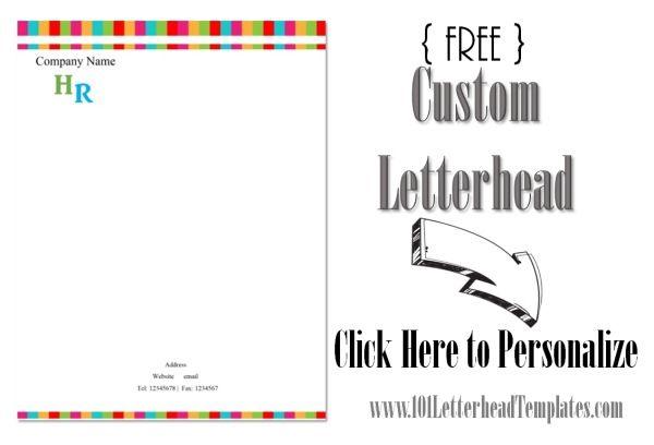 Colors Company Letterhead Template Minimilistic  Free Company Letterhead