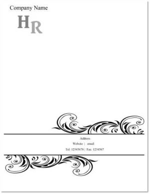 Free Printable Business Letterhead Templates. Elegant Black  Free Letterhead Samples