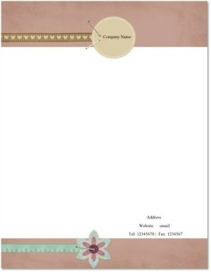 tan colored template with ribbons