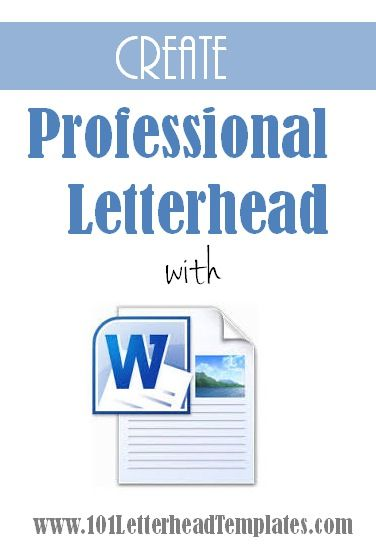 how to make letterhead in word