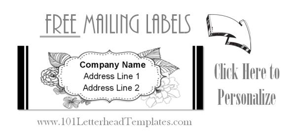 mail labels with address