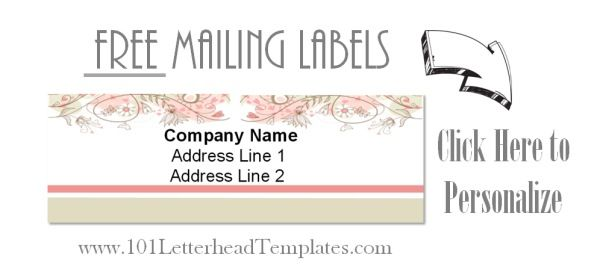 Personalized mailing labels