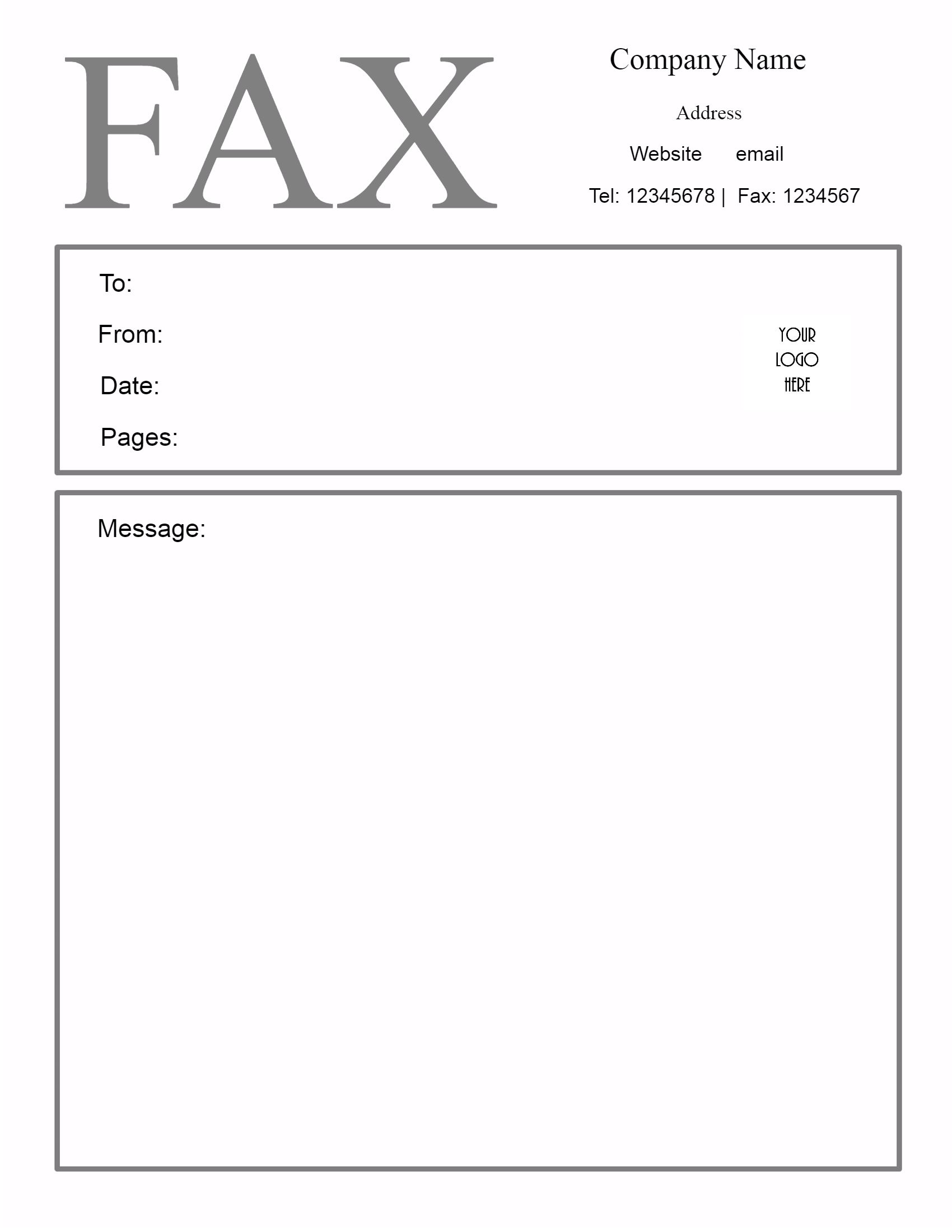 Fax Cover Sheet  Blank Cover Letter Template