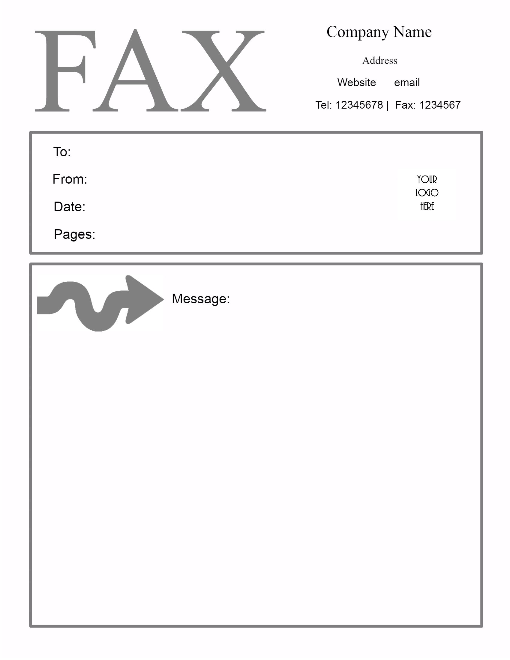 Free Fax Cover Sheet Template – Sample Blank Fax Cover Sheet