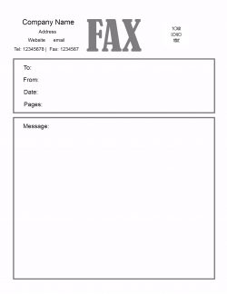 printable fax cover sheet