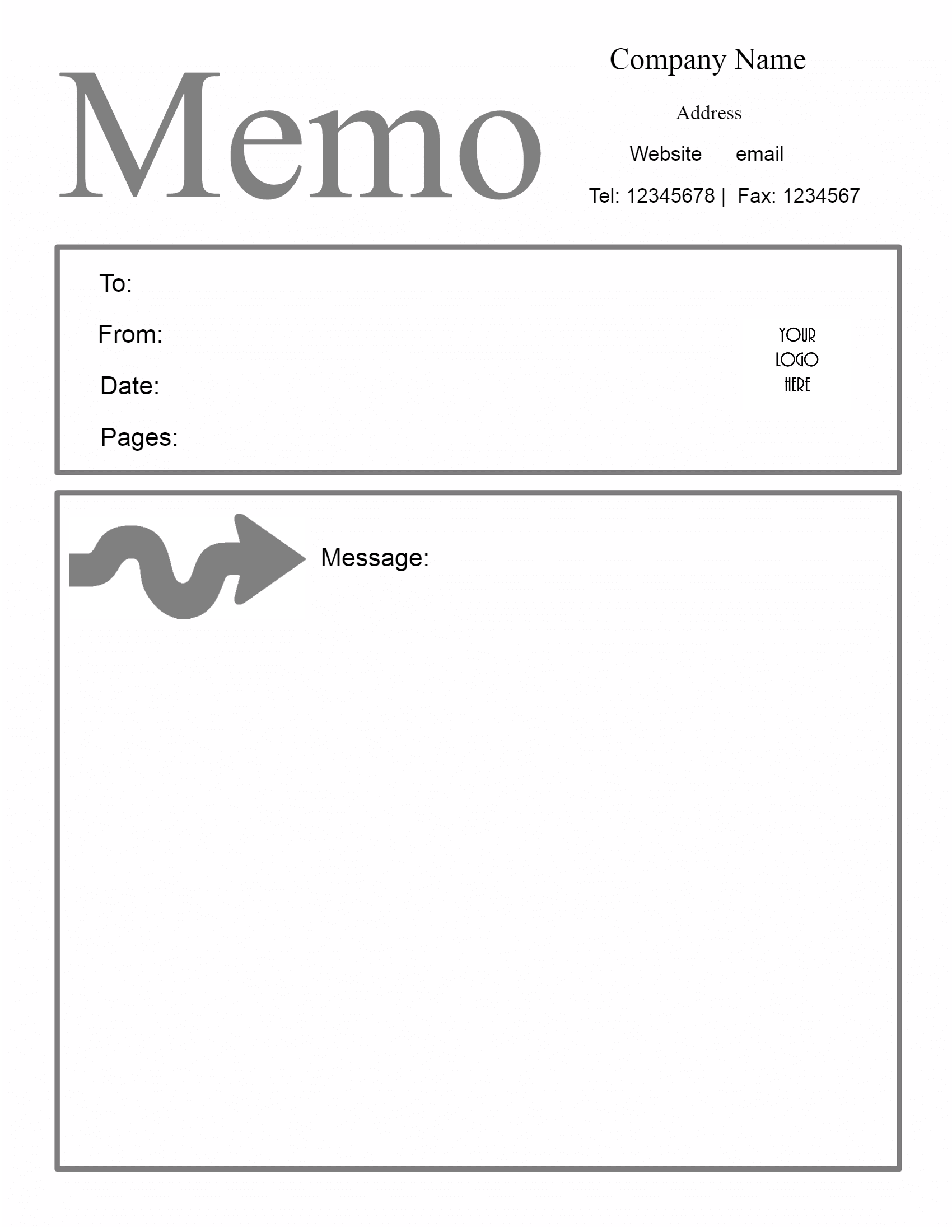 Letterhead Templates  Project Memo Template